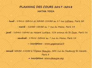planning Hatha 2017-2018