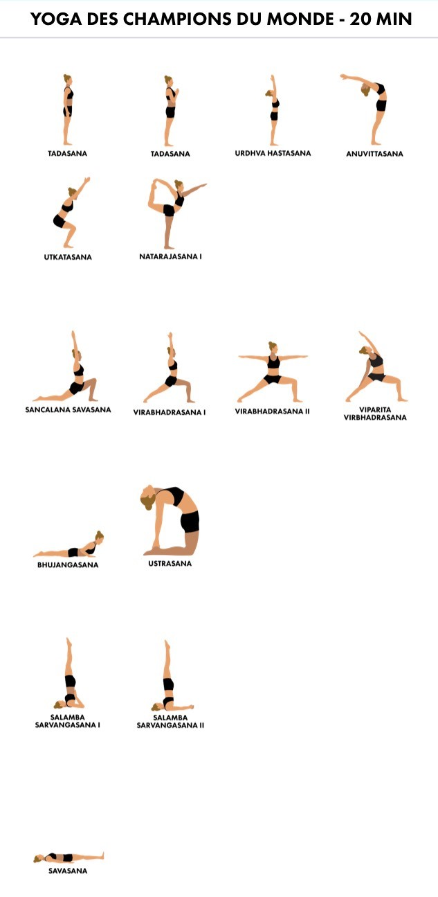 séquence de yoga de min pour exprimer sa joie